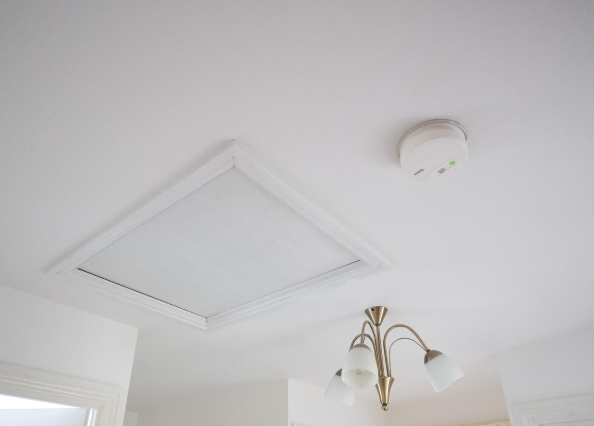Image Of A Drop Hatch Door In A Ceiling